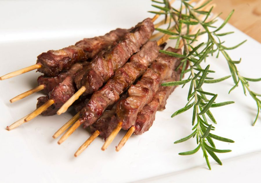 Mini sheep skewers